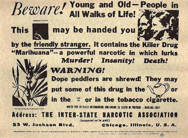 Image result for marijuana propaganda murder death